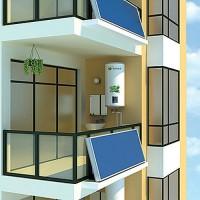供应河南恒凯能源壁挂式新型平板太阳能热水器