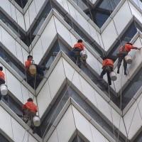 广州越秀区蜘蛛人高空作业,外墙壁污渍清洗,墙面清洁