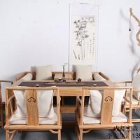新中式圆凳家具定制  新中式书箱家具定制