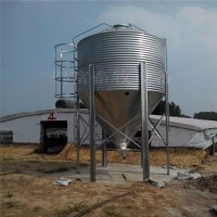 养殖料线镀锌板料塔 德州猪舍自动储料仓厂家 养殖料塔配件