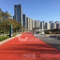 上海飞机场彩色景观透水混泥土路面的施工案例