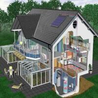 供应河南恒凯能源别墅太阳能热水取暖系统工程