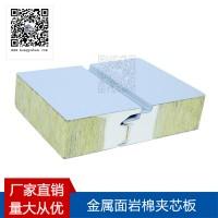 聚氨酯封边岩棉夹芯板,隐钉型横装岩棉夹芯板