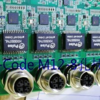 X键位D键位连接器 工业交换机M12面板插座板前/板后安装