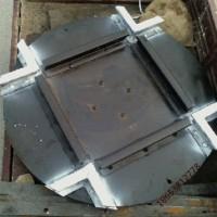 煤矿用600mm轨距道岔转盘定做生产 鸿奕22kg转盘道岔