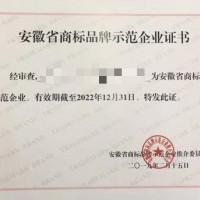 2020年安徽省商标品牌示范企业申报奖励条件及申报时间预测