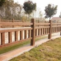 水浒建材水泥仿木栅栏公园草坪围栏水浒园林仿木栏杆水泥仿木花箱