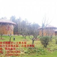 江西文青园林古建厂家直销茅草木屋
