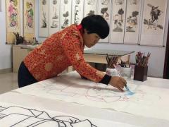 非物质文化遗产项目高密扑灰年画代表性传承人-王树花扑灰年画