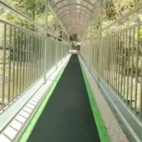 景区魔毯外形美观两侧有护栏 诺泰克观光输送带