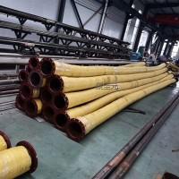 矿用法兰高压输水胶管大口径钢丝缠绕管压力20KG抽水排污用