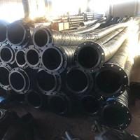 矿用夹钢丝排污疏浚管8寸 法兰吸水胶管 10米大口径波纹管
